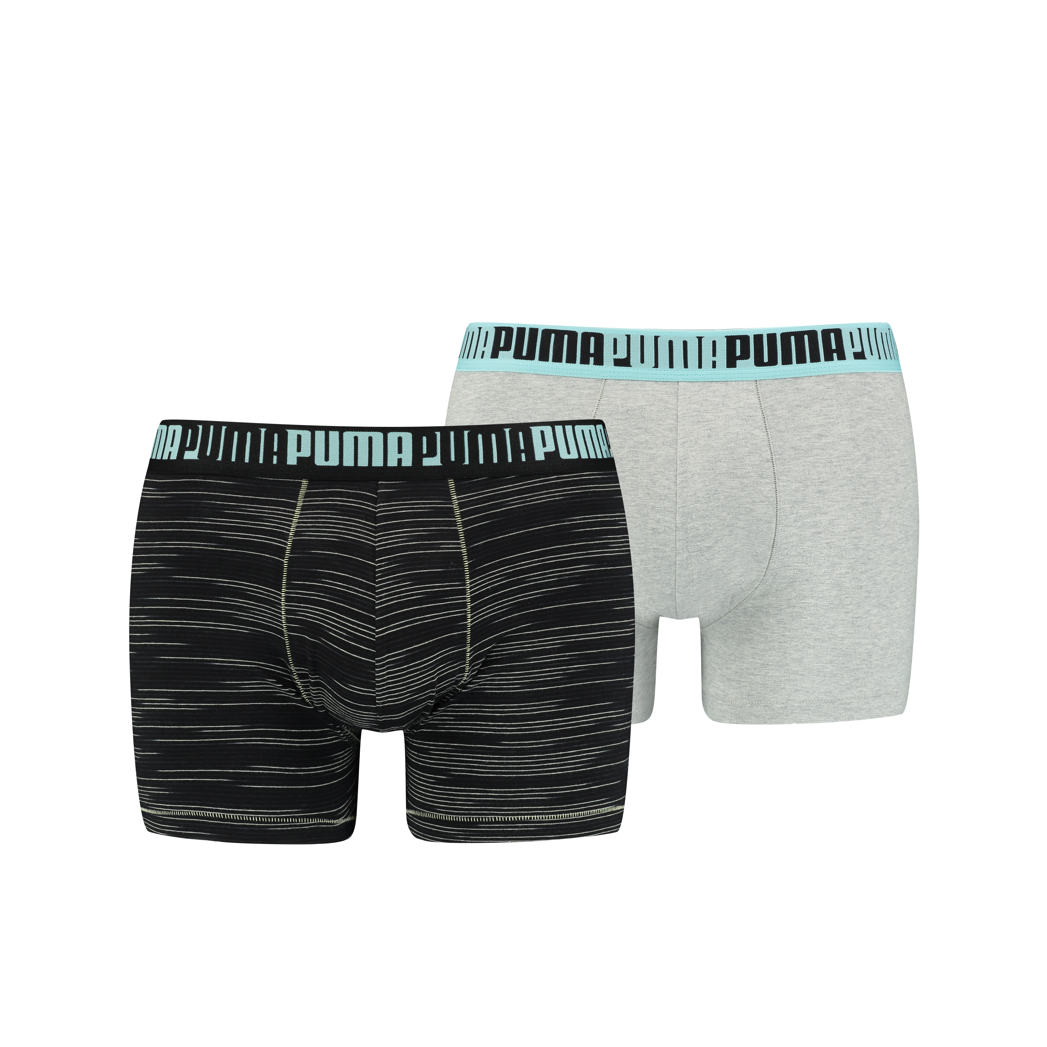 Puma Boxershorts Spacedye Stripe 2-pack Licht Grey Melange-XL