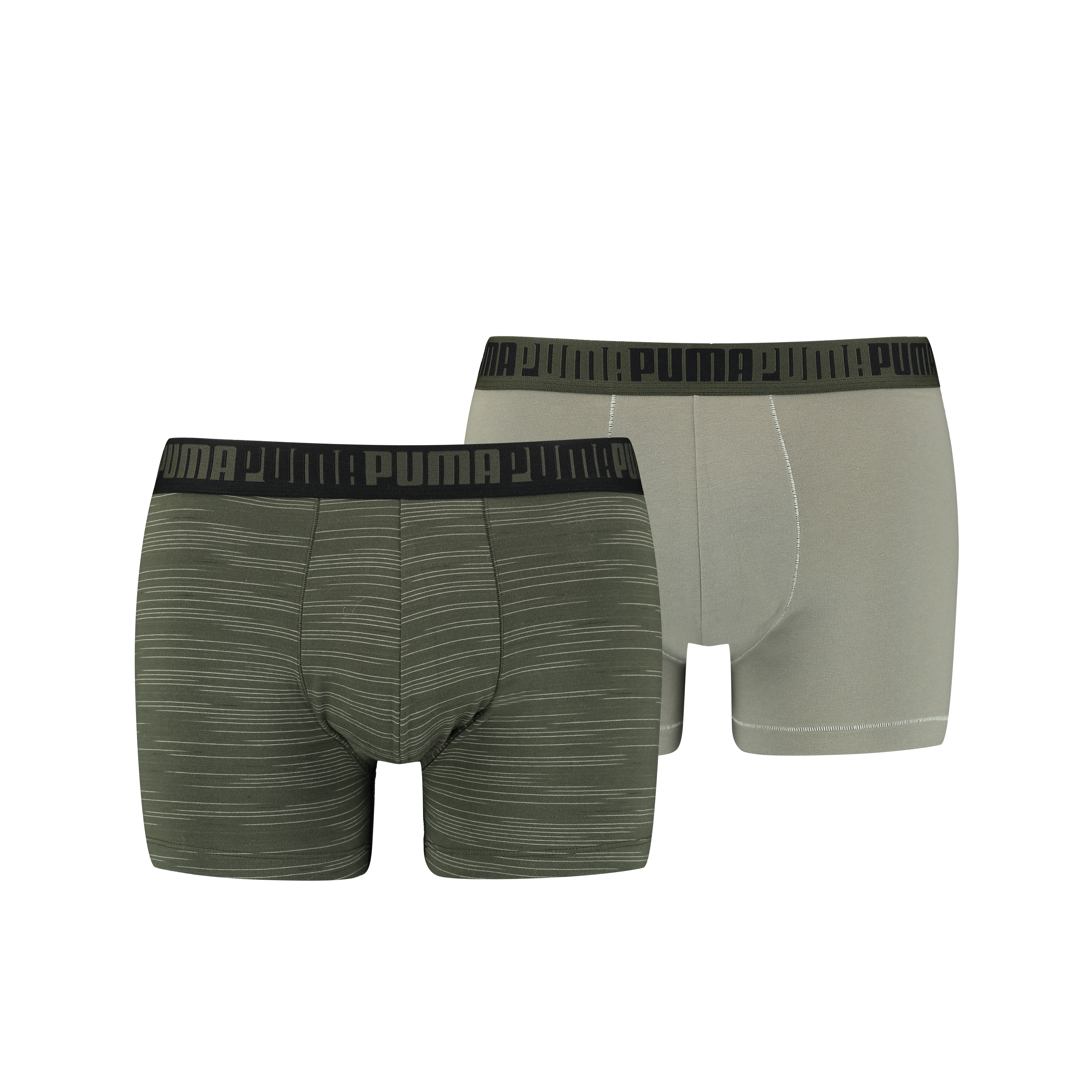 Puma Boxershorts Spacedye Stripe 2-pack Green Combo-S