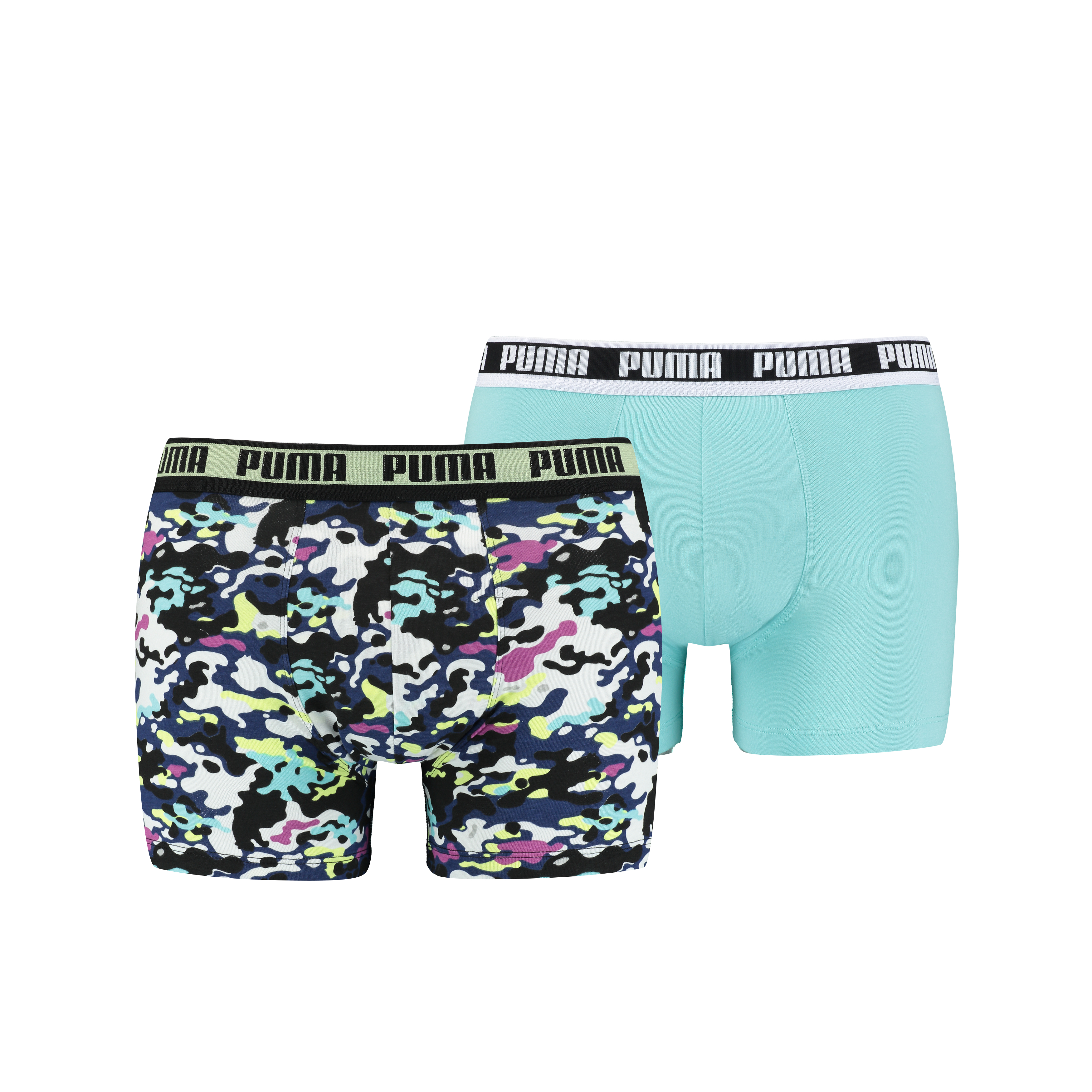 Puma Boxershorts Camo 2-pack Yellow/Blue-S