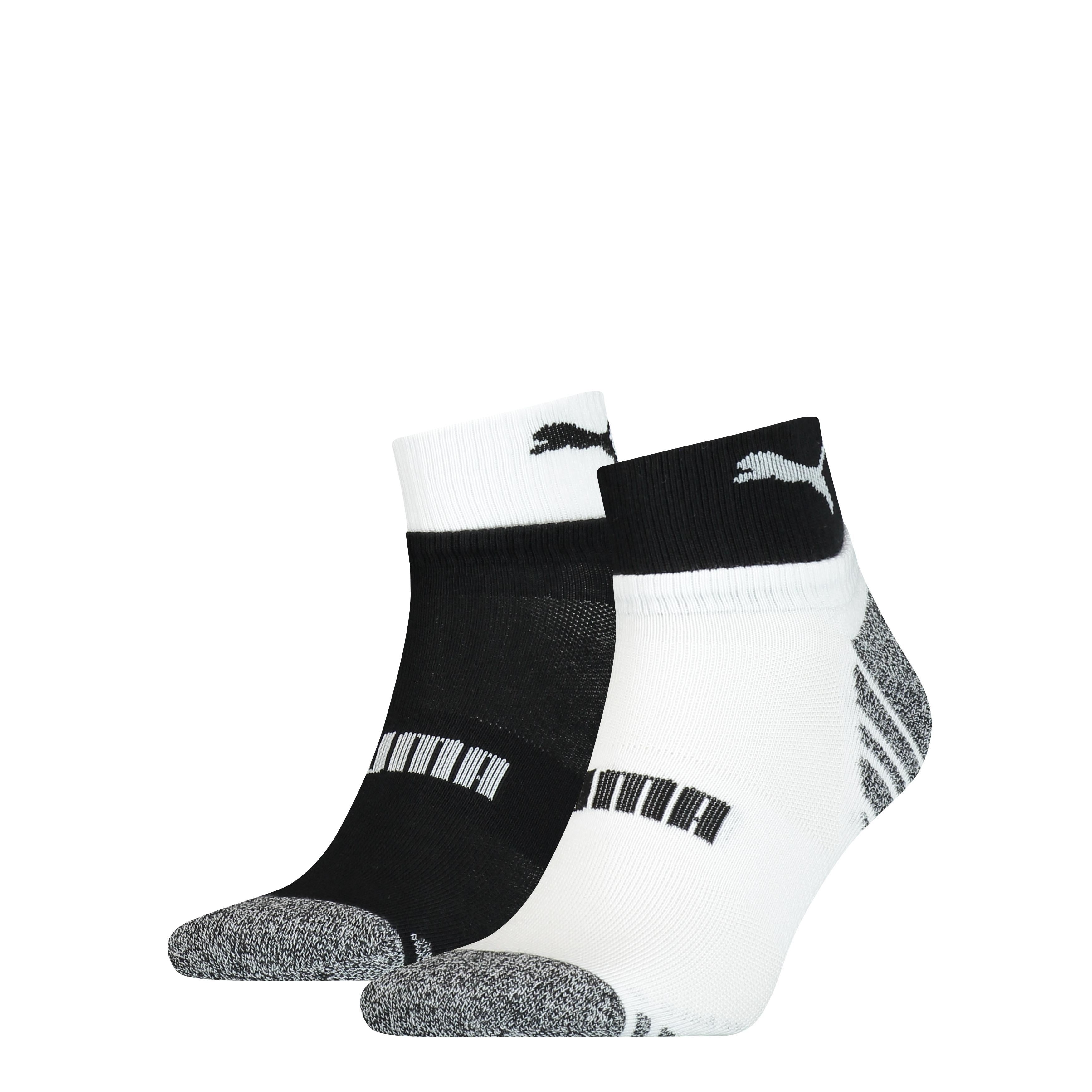 Puma Quarter Sokken Heren 2-pack Black/ White-39/42