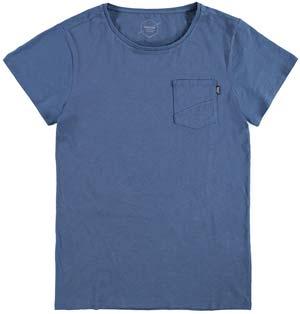 Brunotti Alonte Heren T-shirt Ronde hals Jeans Blue