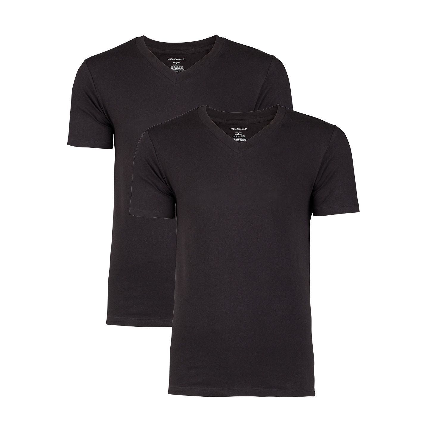 Muchachomalo 2-pack Men T-shirt Zwart-S