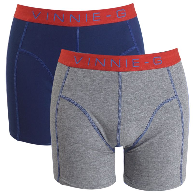 Vinnie-G boxershorts Flame Blue Grey 2-pack