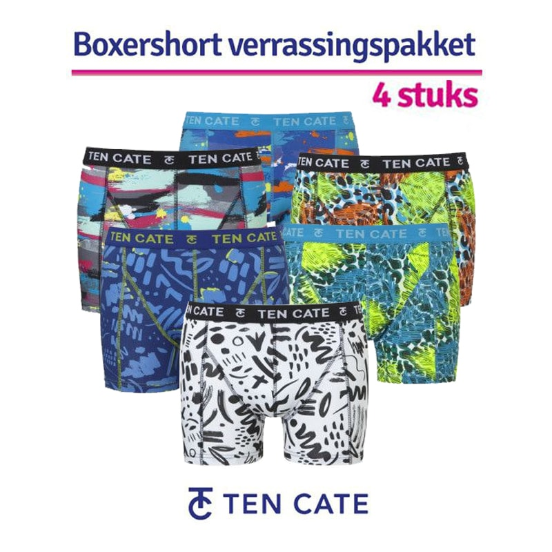 Ten Cate Heren Verrassingspakket Print 4-Pack
