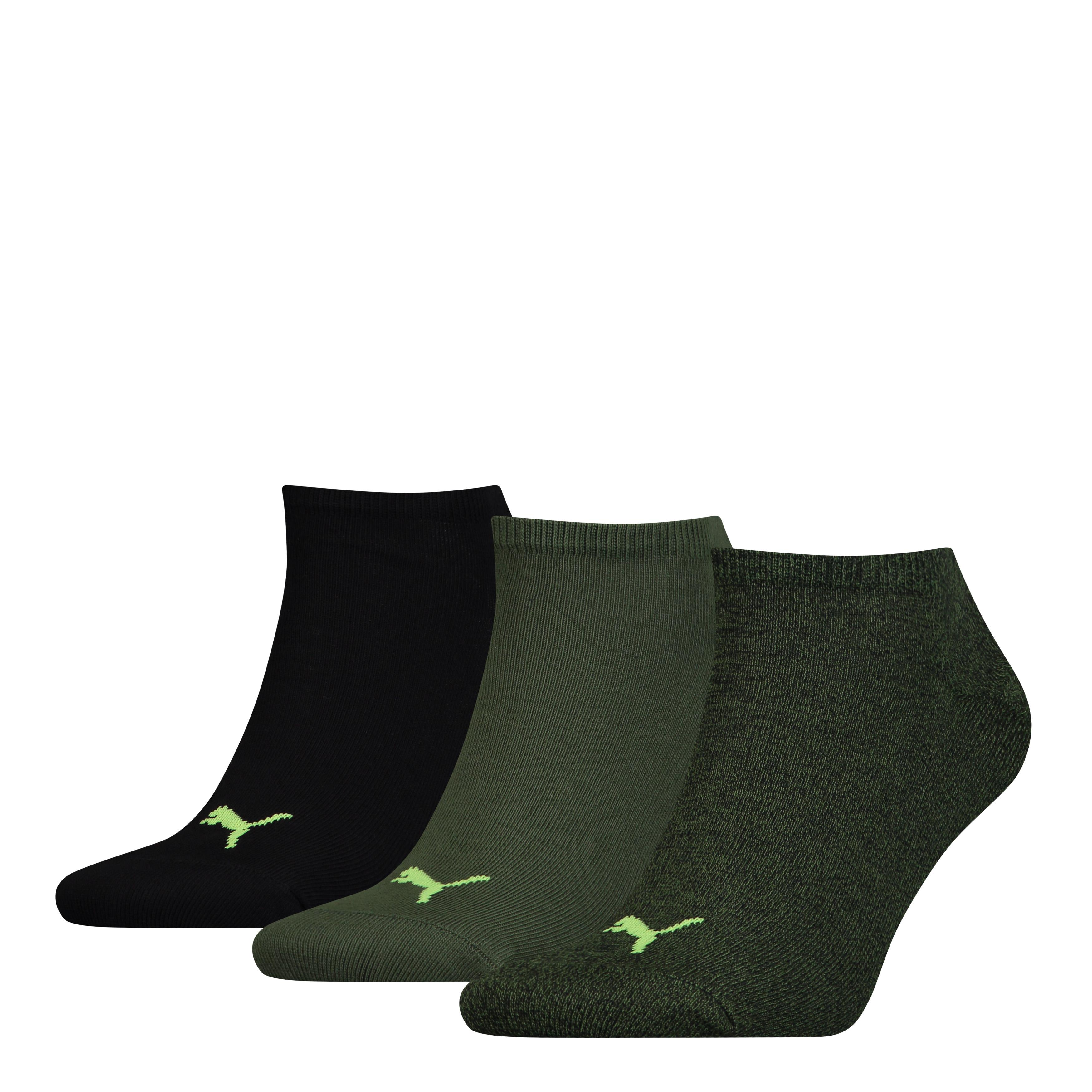 Puma sokken sneaker plain Black - Green 3-pack-35/38