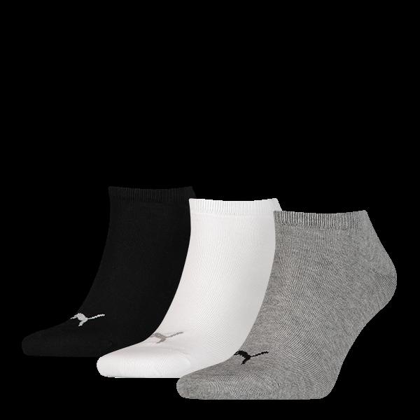 Puma sokken invisible grijs-wit-zwart 3-pack-43-46