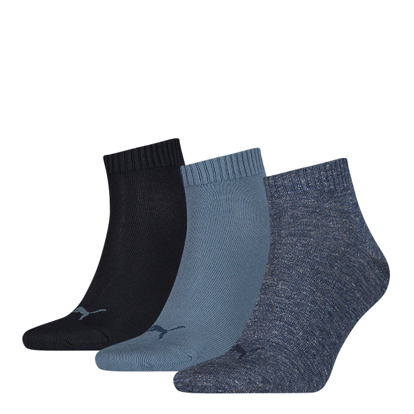 Puma sokken Quarter Denim Blue 3-pack