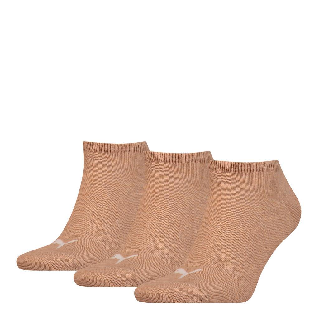 Puma Unisex Sneaker Plain Socks Beige Melange-35-38