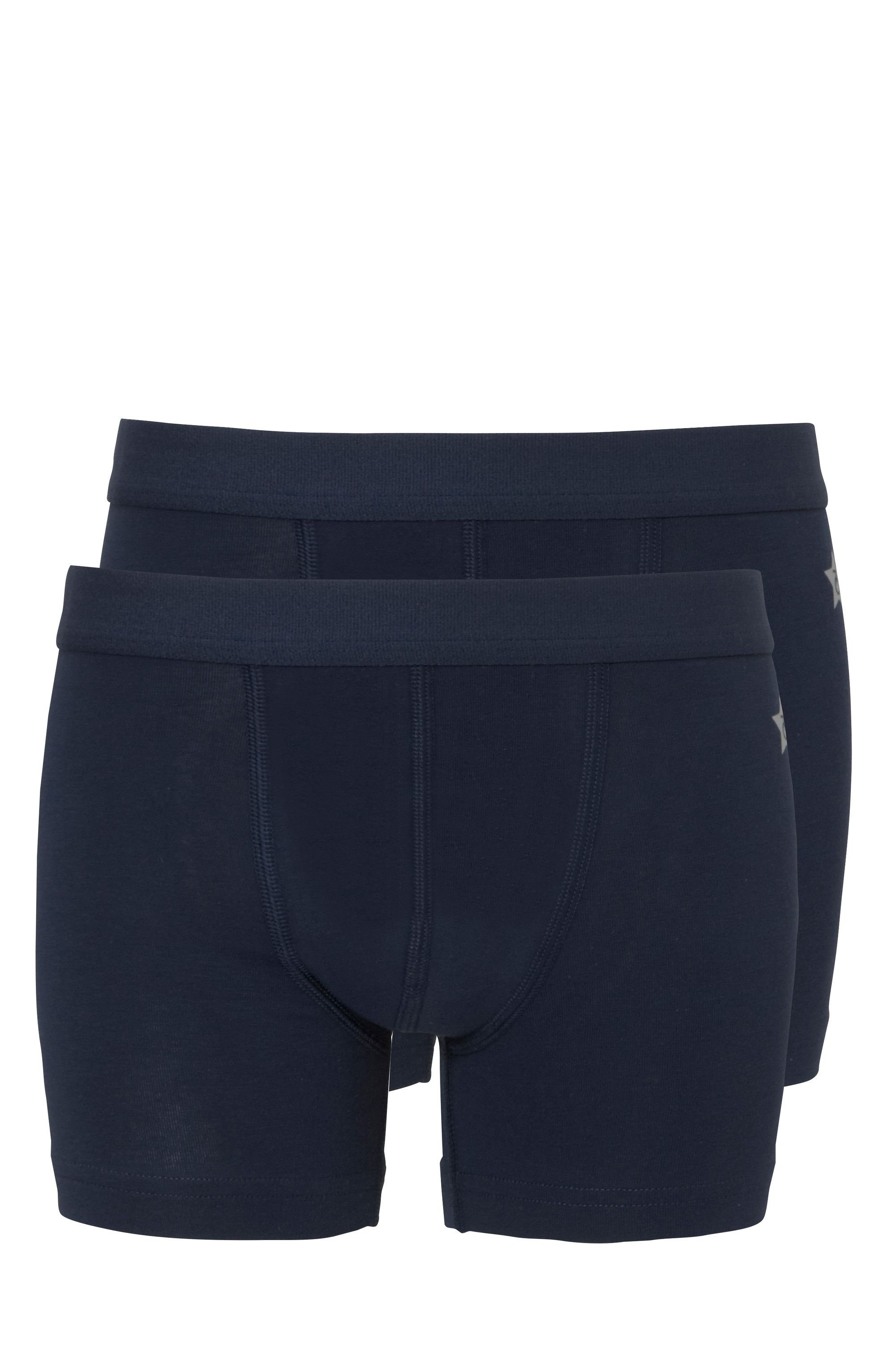 Ten Cate 2-pack Boys Basic Short Donker Blauw