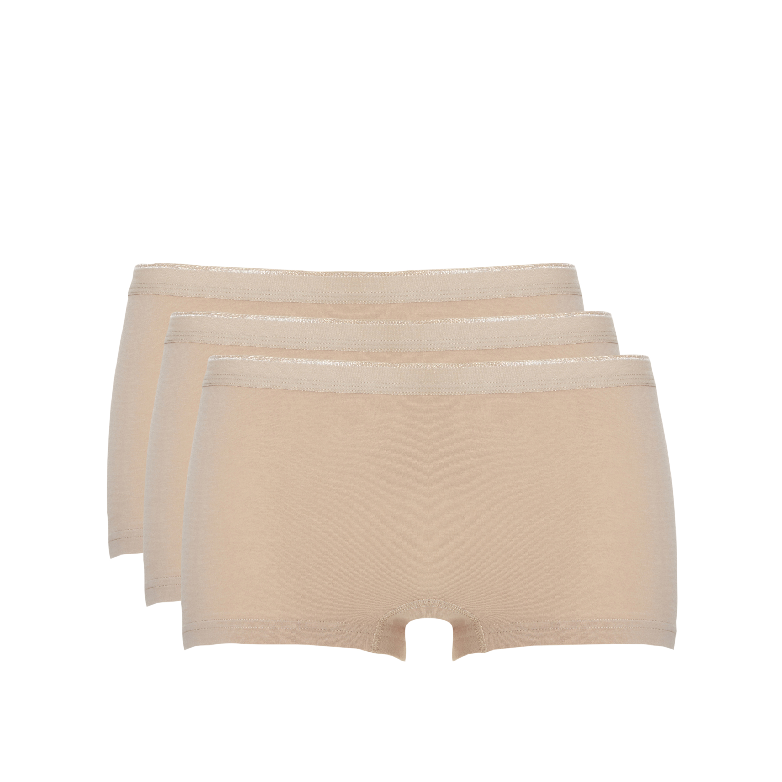 Ten Cate Basic Women Cotton Short 3-pack Tan