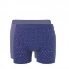 Ten Cate Men Shorts Blue Print+Blue Melee 2-pack