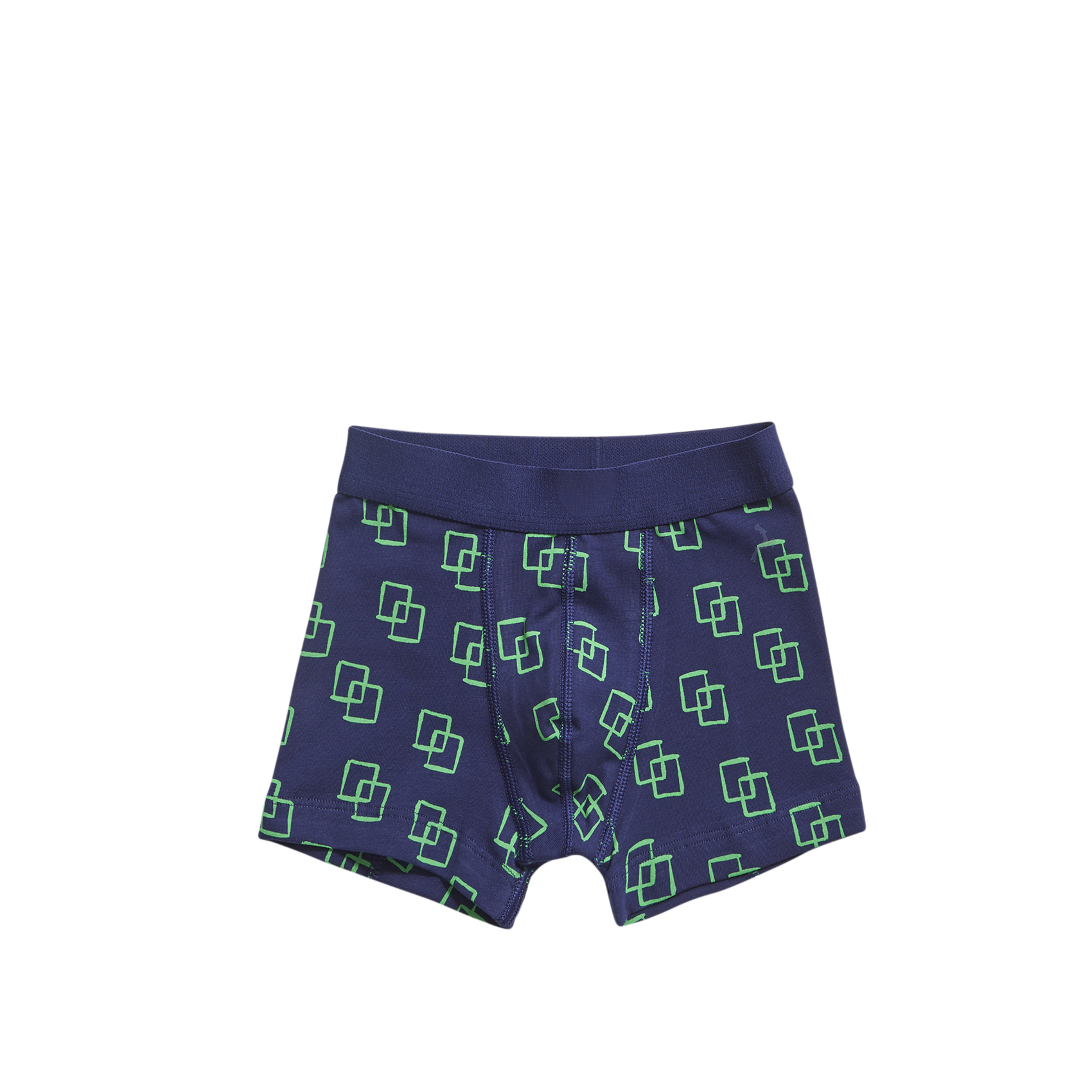Ten Cate Boys short Squares Navy Green