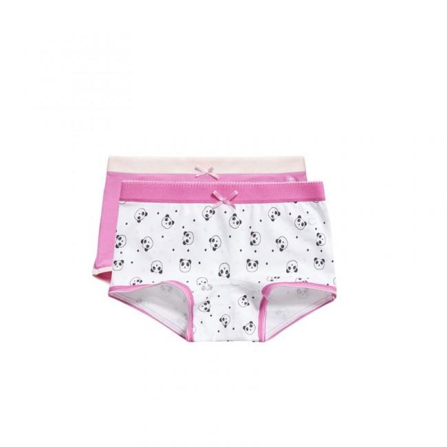 Ten Cate Kids Girls Short Roze/Wit 2-Pack