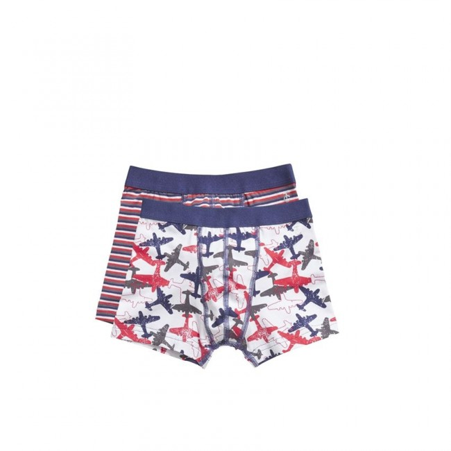 Ten Cate Kids Boys Boxer Rood/Wit/Blauw 2-pack