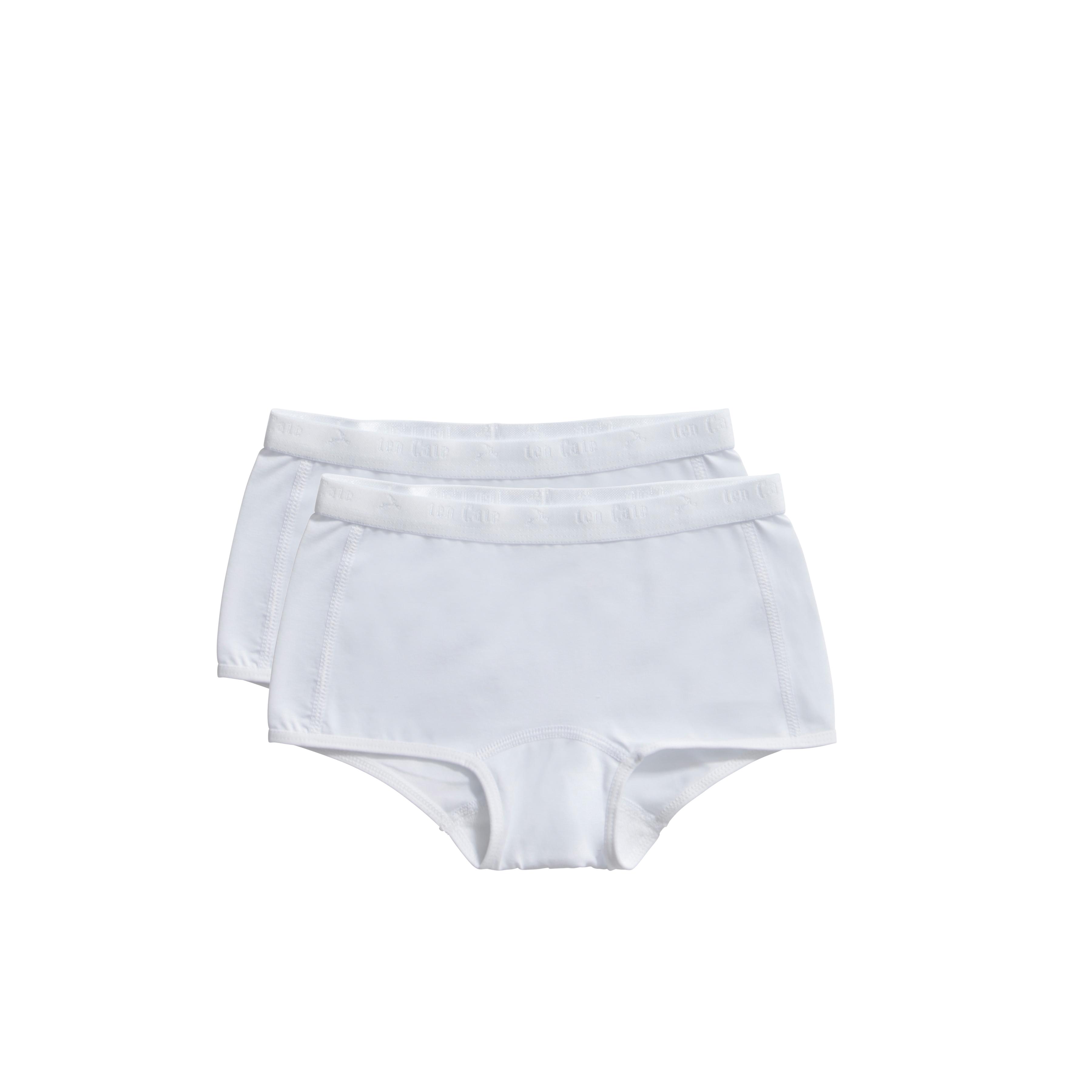 Ten Cate Kids Girls Short white 2-pack