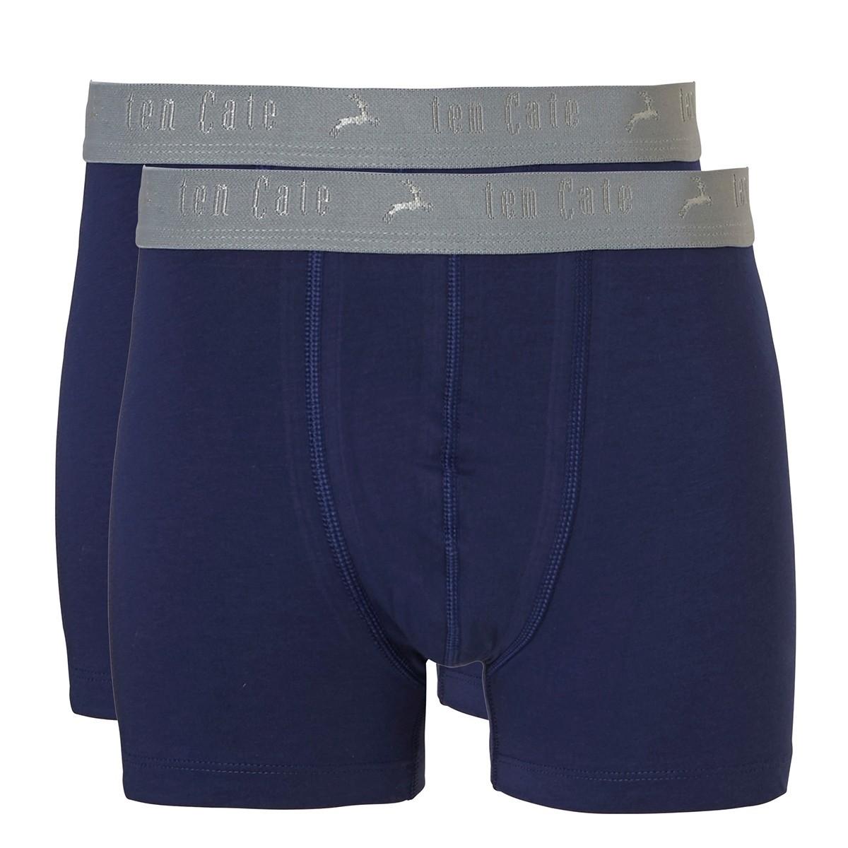 Ten Cate Teens Boys Basic Shorts 2-pack blue