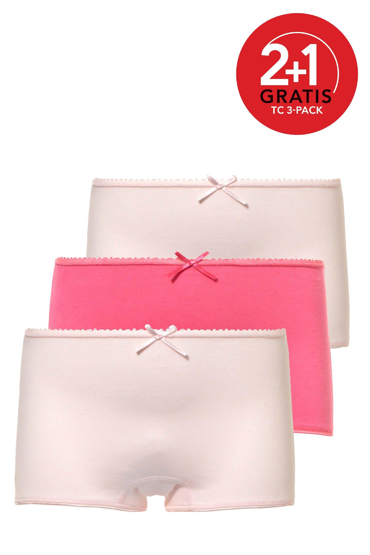Ten Cate 3-pack Girls Short Basic Light Pink/Fuchsia/Light Pink