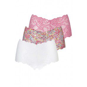 Ten Cate Lace Hipster 3 Pack Pink Flower