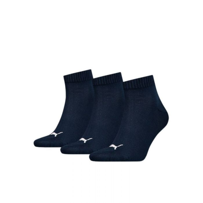 Puma Unisex Quarter Plain Socks Navy-35-38