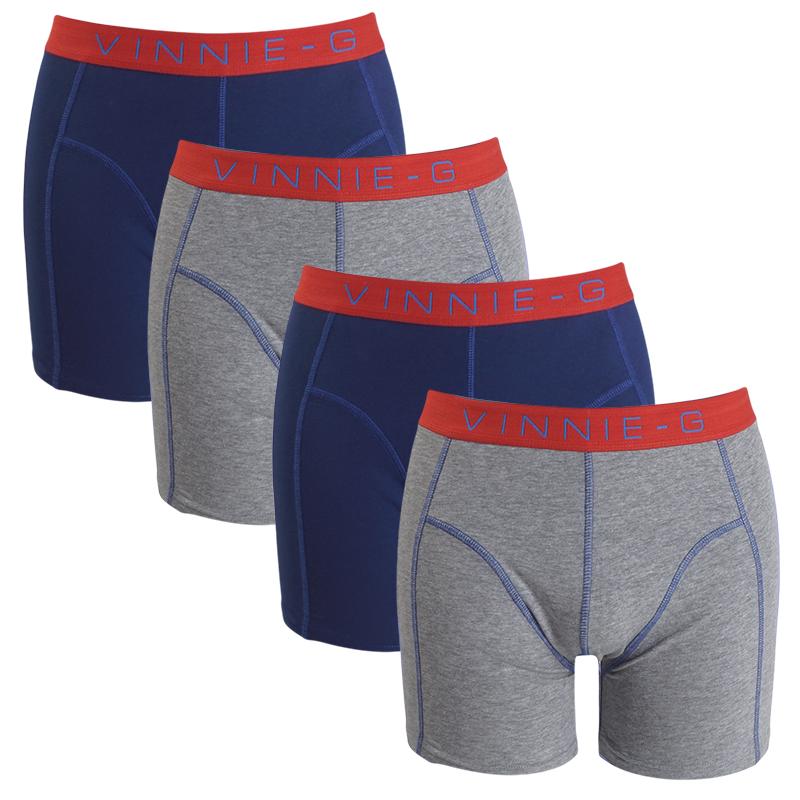 Vinnie-G boxershorts Flame Blue Uni 4-pack L