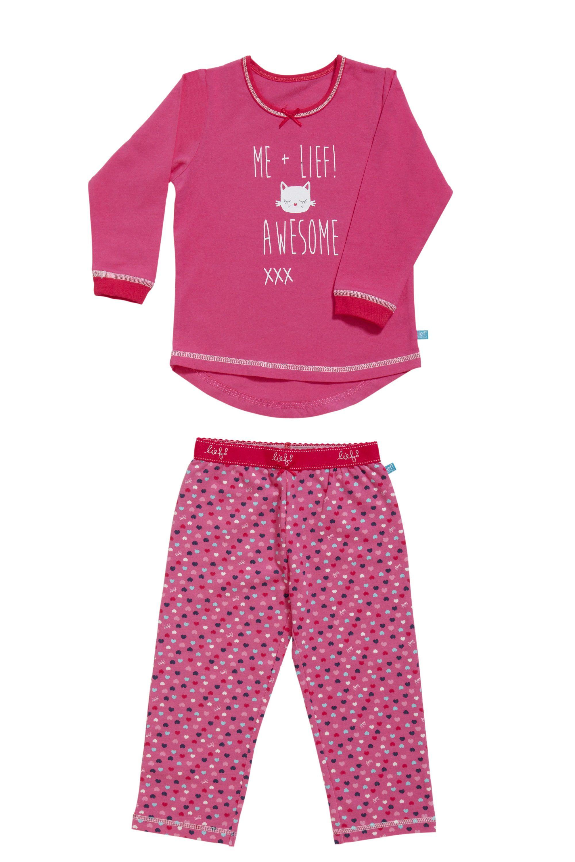 Lief! Girls Pyjama 4542 Pink Heart Dots