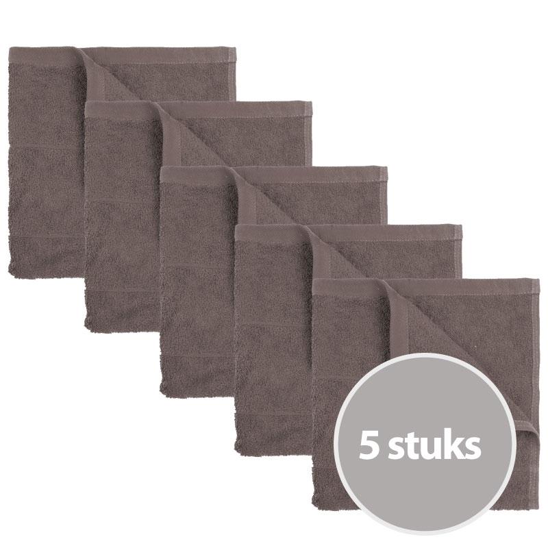 The One Keukendoek 50 x 50 cm Taupe - 5 stuks