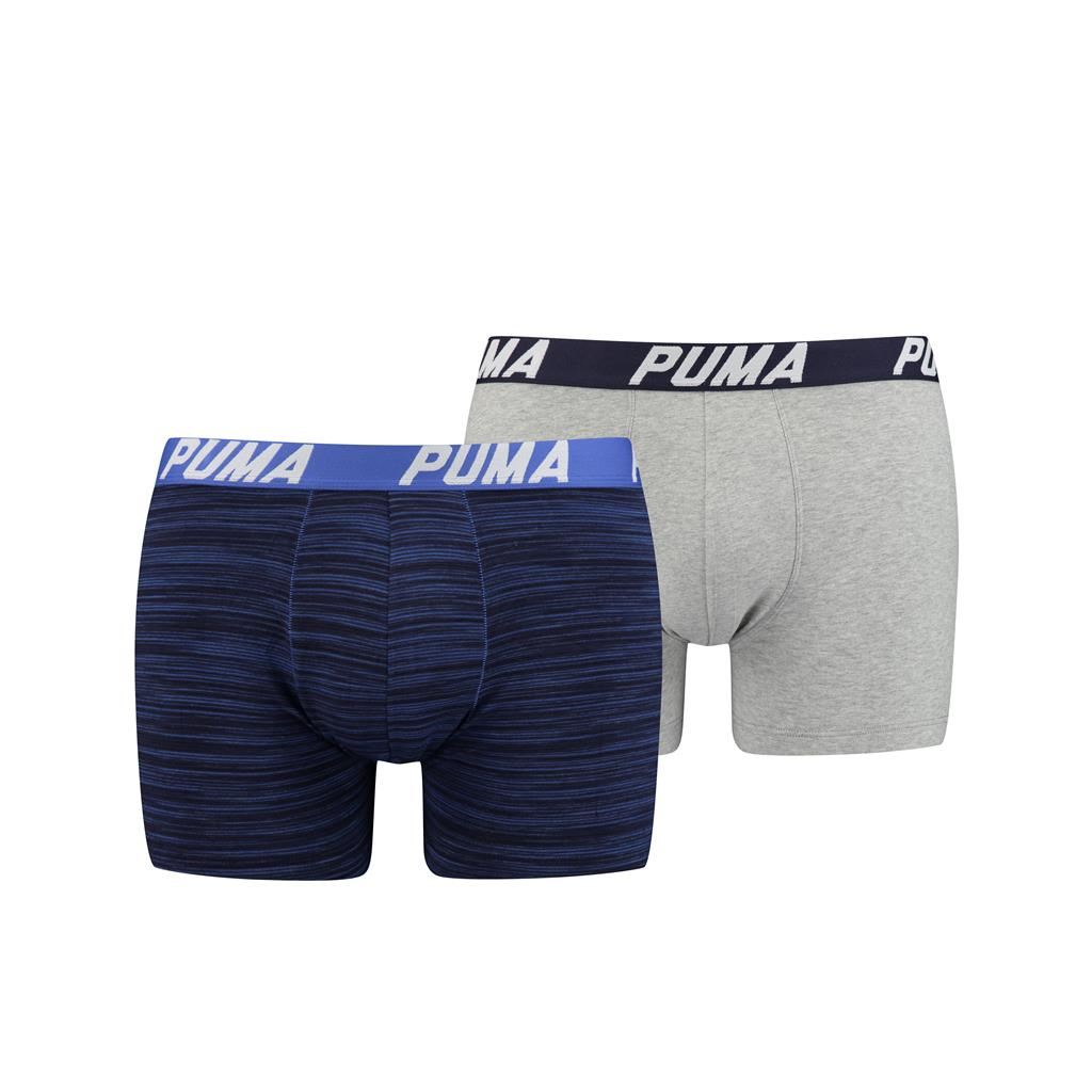 Puma Spacedye Stripe Boxershorts Blue Combo 2-pack-XL