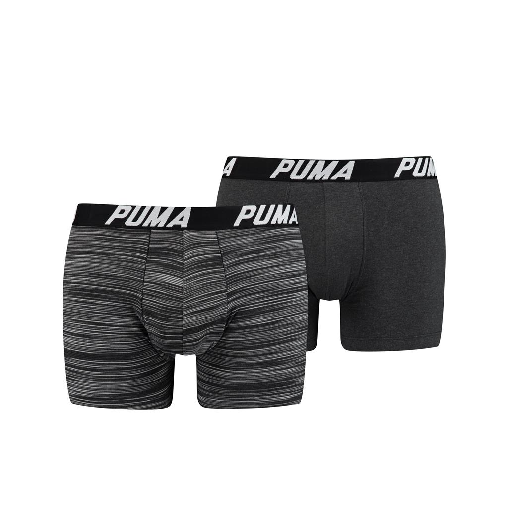 Puma Spacedye Stripe Boxershorts Black 2-pack-XL