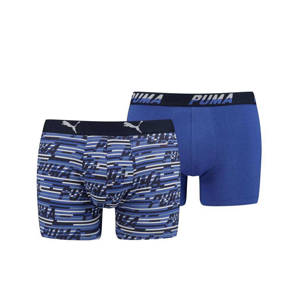 Puma Logo AOP Boxershorts Blue Combo 2-pack-XL