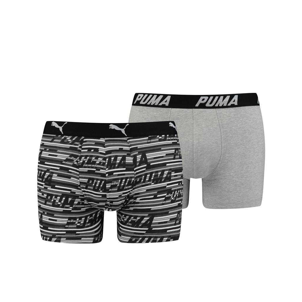 Puma Logo AOP Boxershorts Black 2-pack-XL