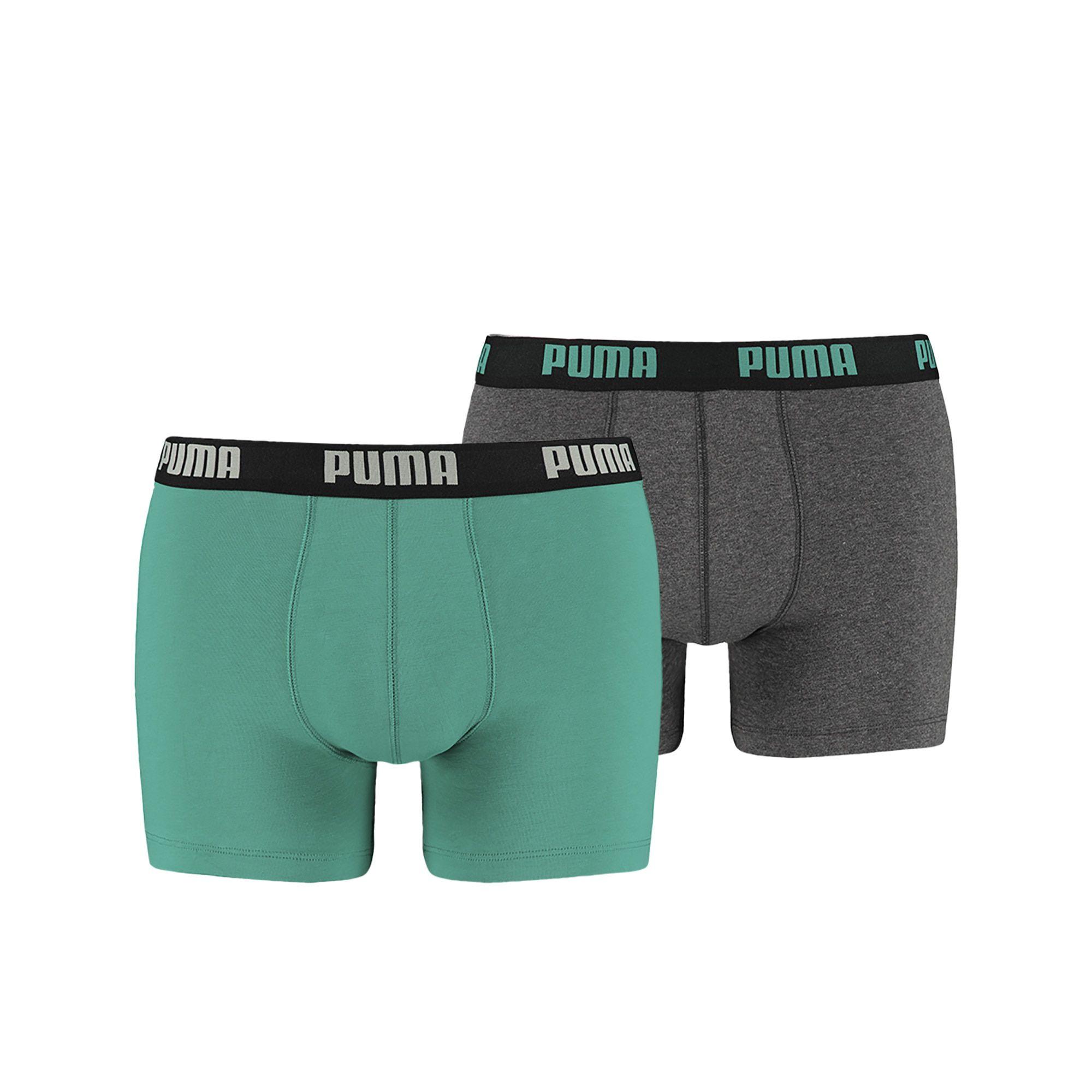 Puma Basic Boxer Navigate - Grey Mela 2-Pack