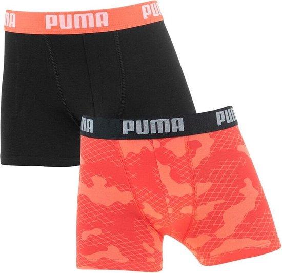 Puma Kids Camo Boxershorts AOP 2-Pack Black/White-146/152
