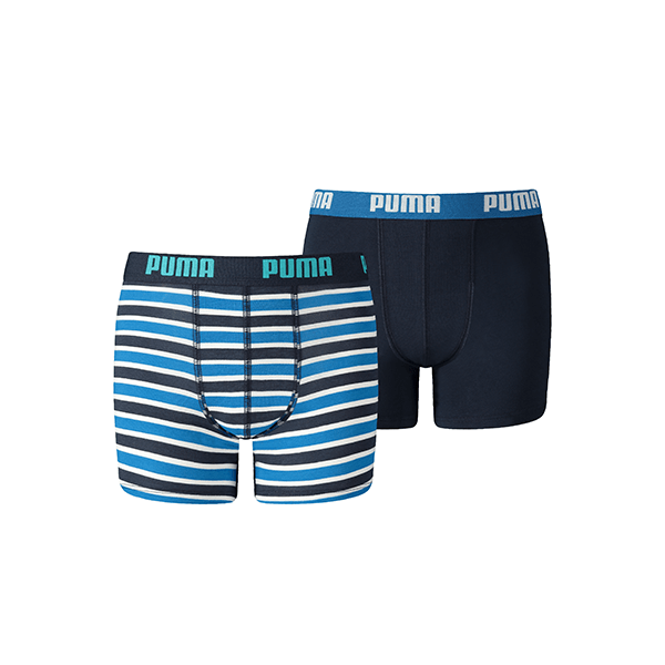 Puma Boxershort Printed Stripe Boys Blue