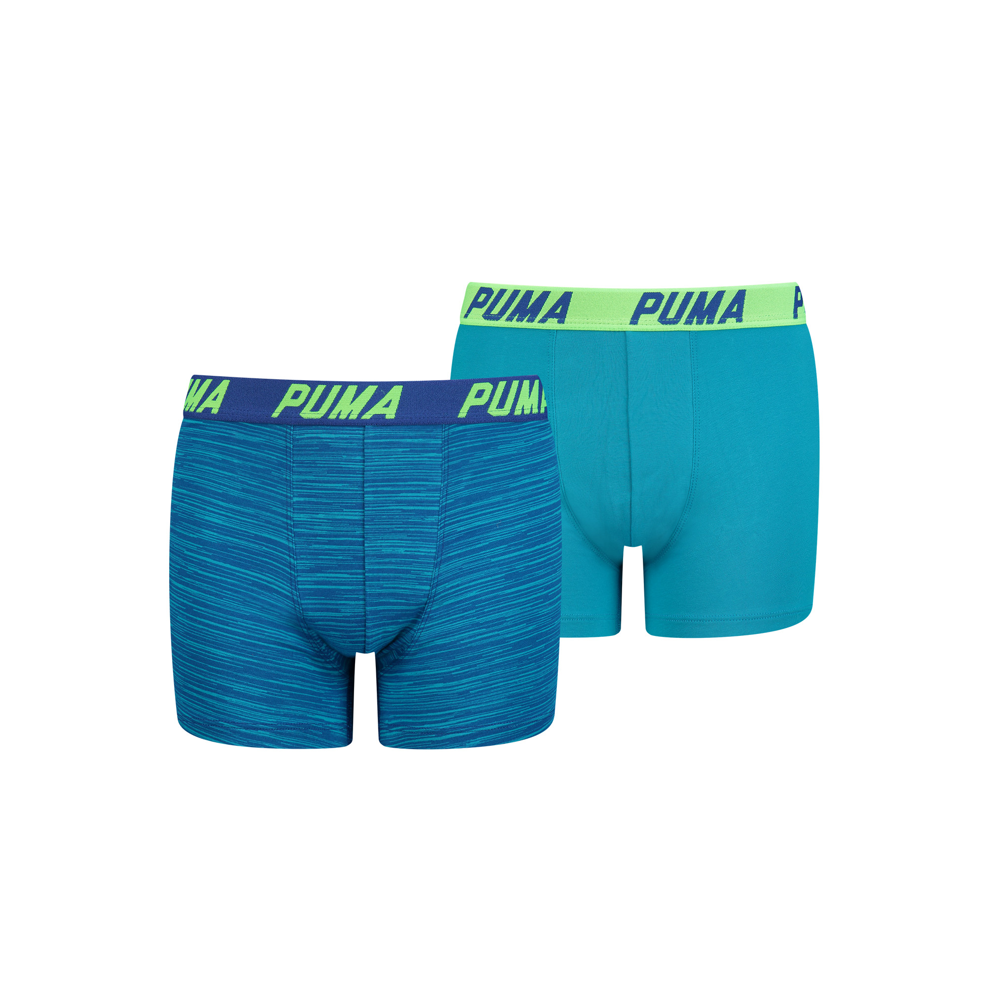 Puma Basic Boxershorts Space Dye 2P Aqua Blauw
