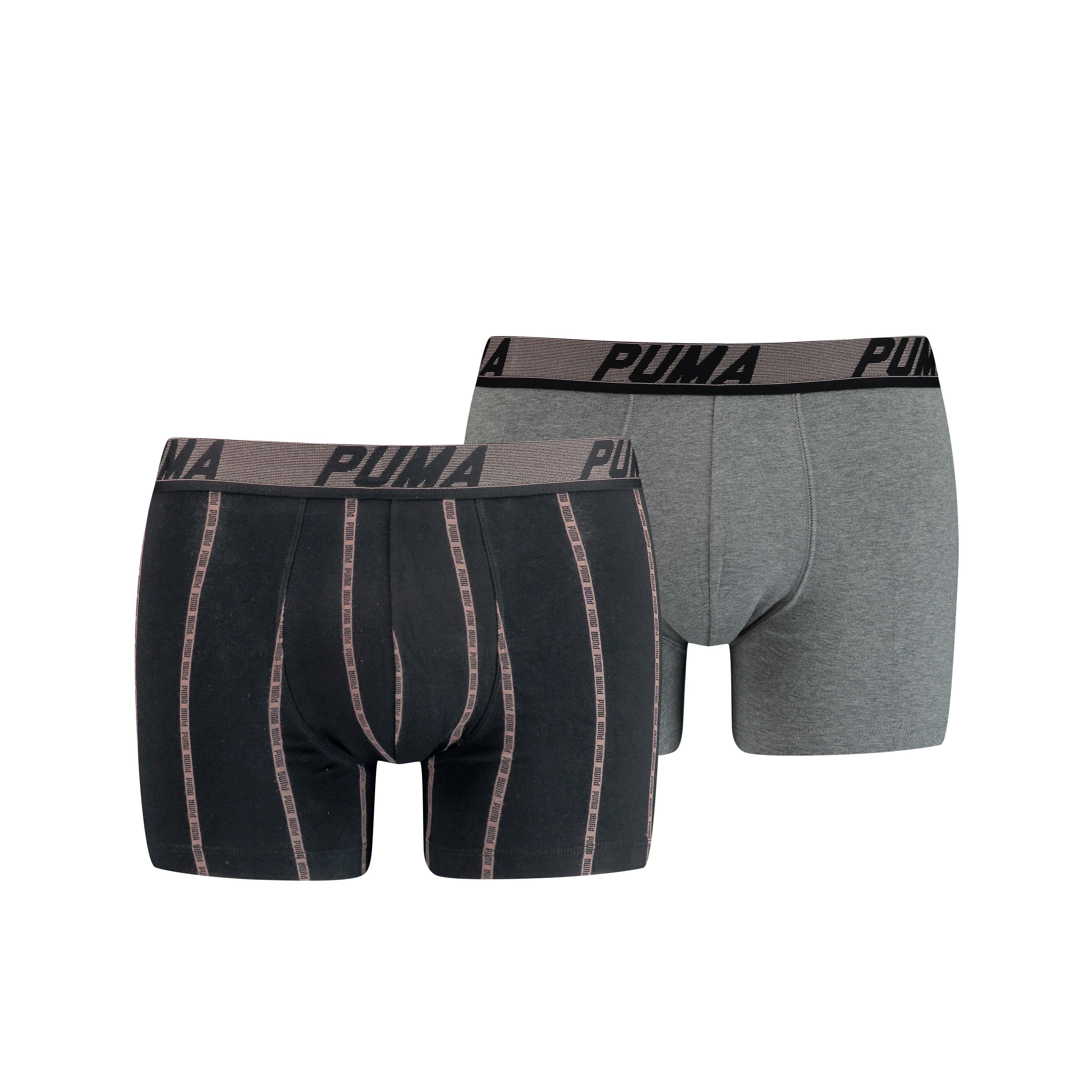 Puma Boxershorts Logo Stripe Black Combo 2-Pack-L