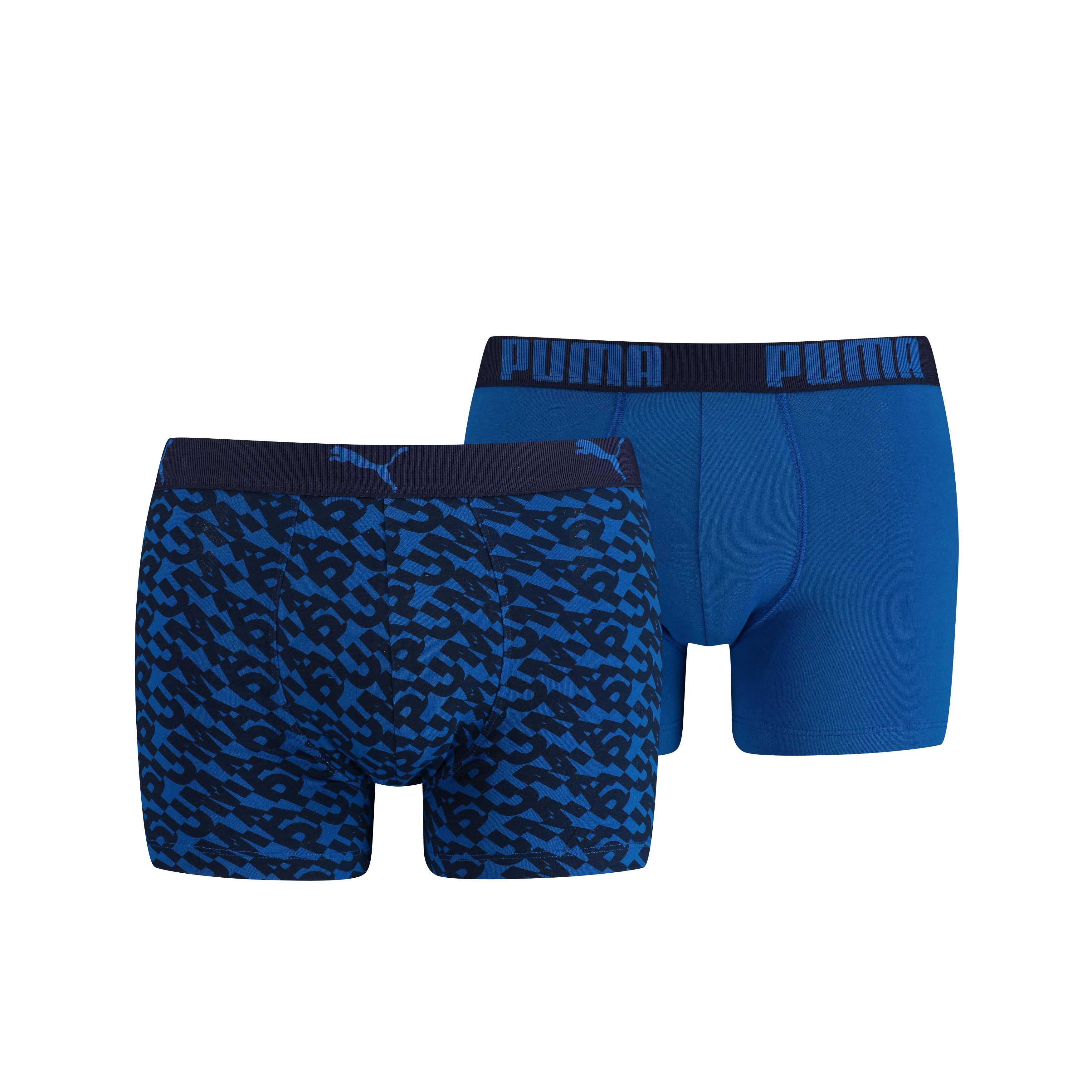 Puma Boxershorts Logo AOP Blue 2-Pack-S
