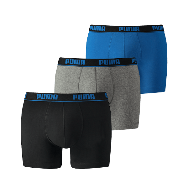 Puma Boxershorts 3-pack Blue/Black