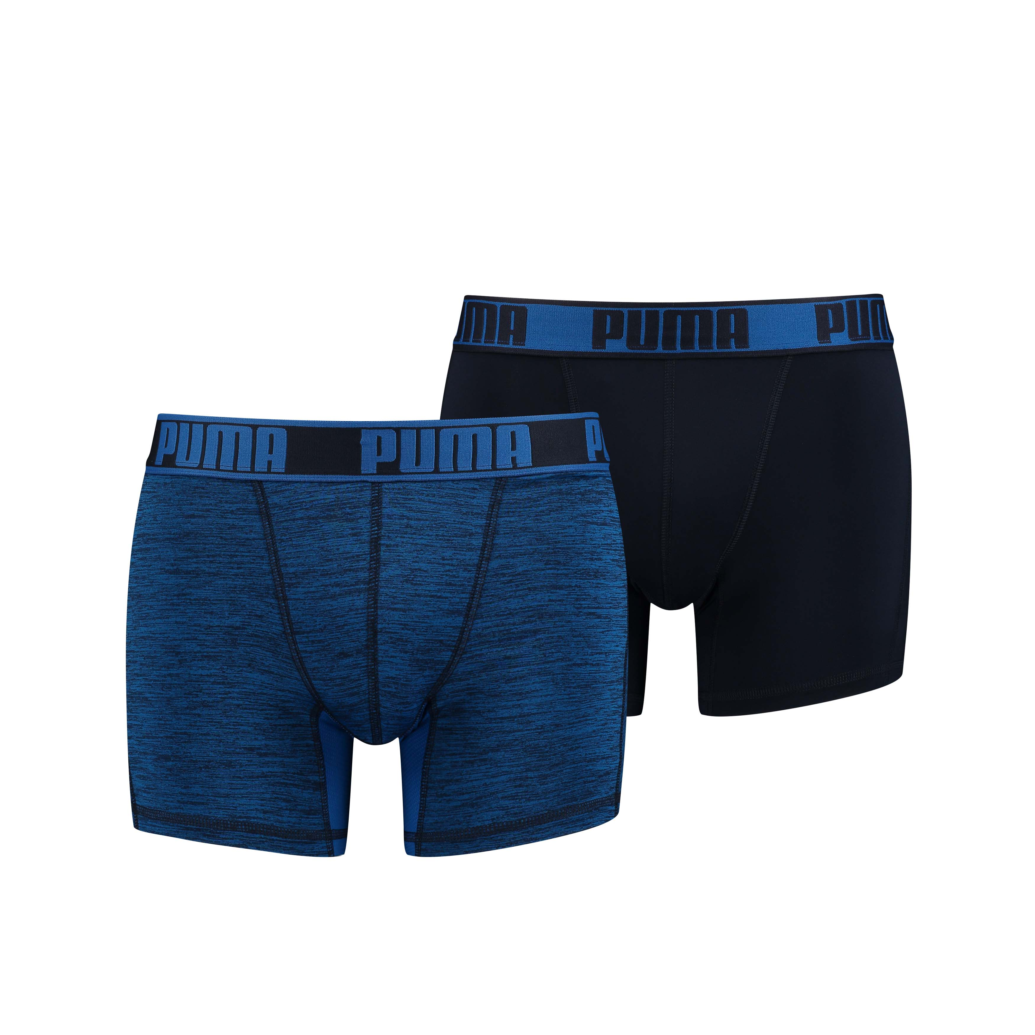 Puma Boxershorts Active Grizzly Melange Blue 2-pack