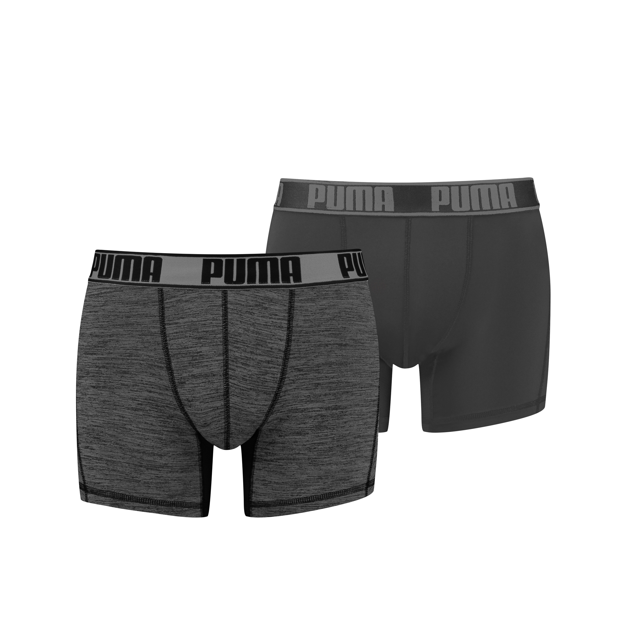 Puma Active Grizzly Melange Boxershorts Black 2-pack-S