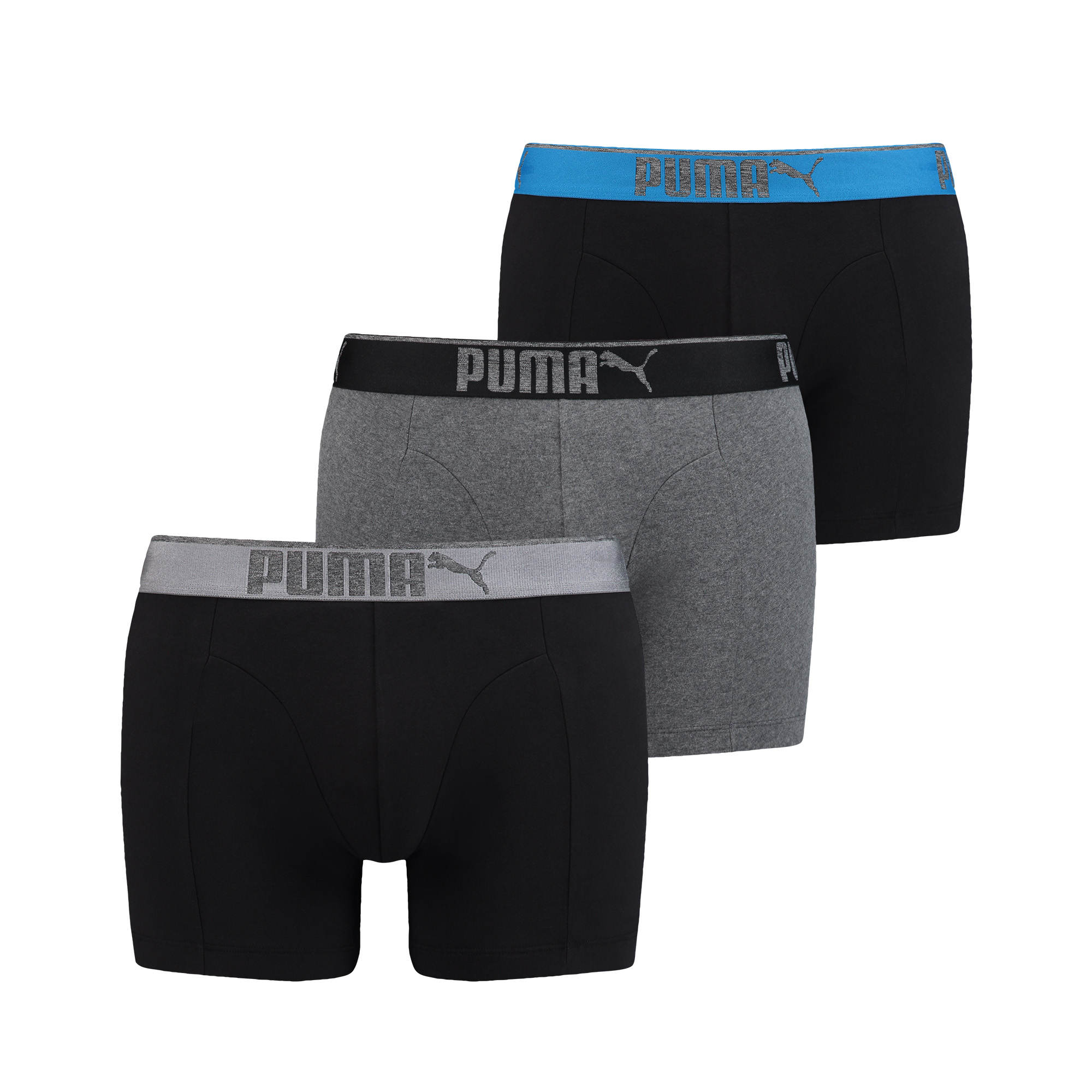 Puma Boxershorts Lifestyle Sueded Cotton Dark Grey Melange - Black