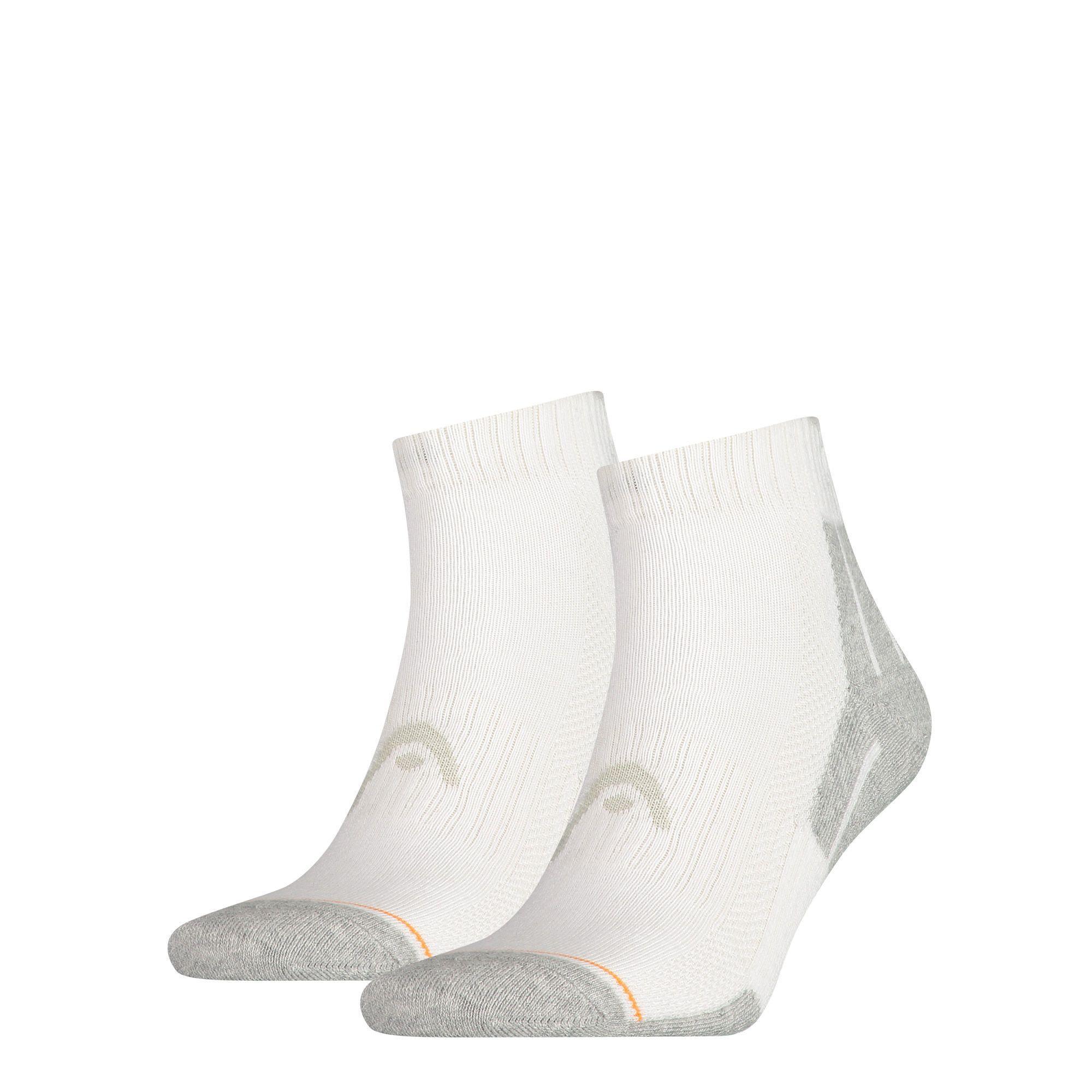 HEAD Performance Quarter sokken 2-pack Unisex White-39-42