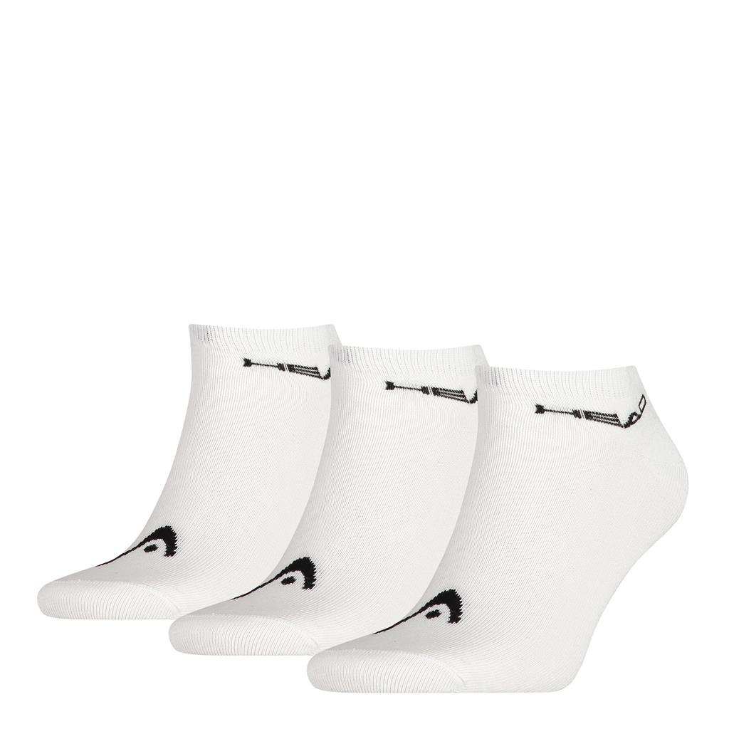 Head 3-pack Unisex Sneaker Sock White-35-38