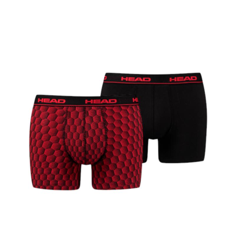 Head Boxershort HoneyComb Print Box Red/Black