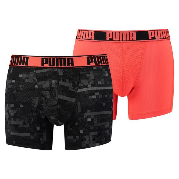 Puma Boxershorts Active Digital Blocking Red-L