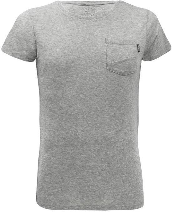 Brunotti Alonte Heren T-shirt Ronde hals Light Grey Melee