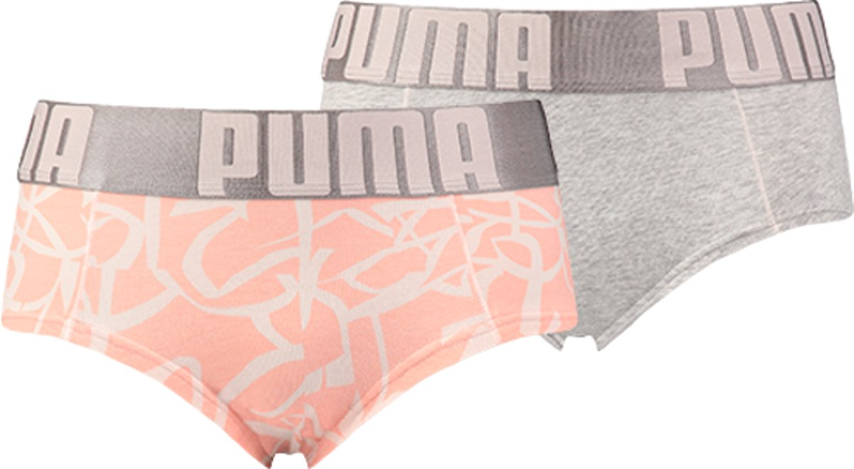 Puma Mini Shorts Dames Graffiti Print Light Pink 2-Pack
