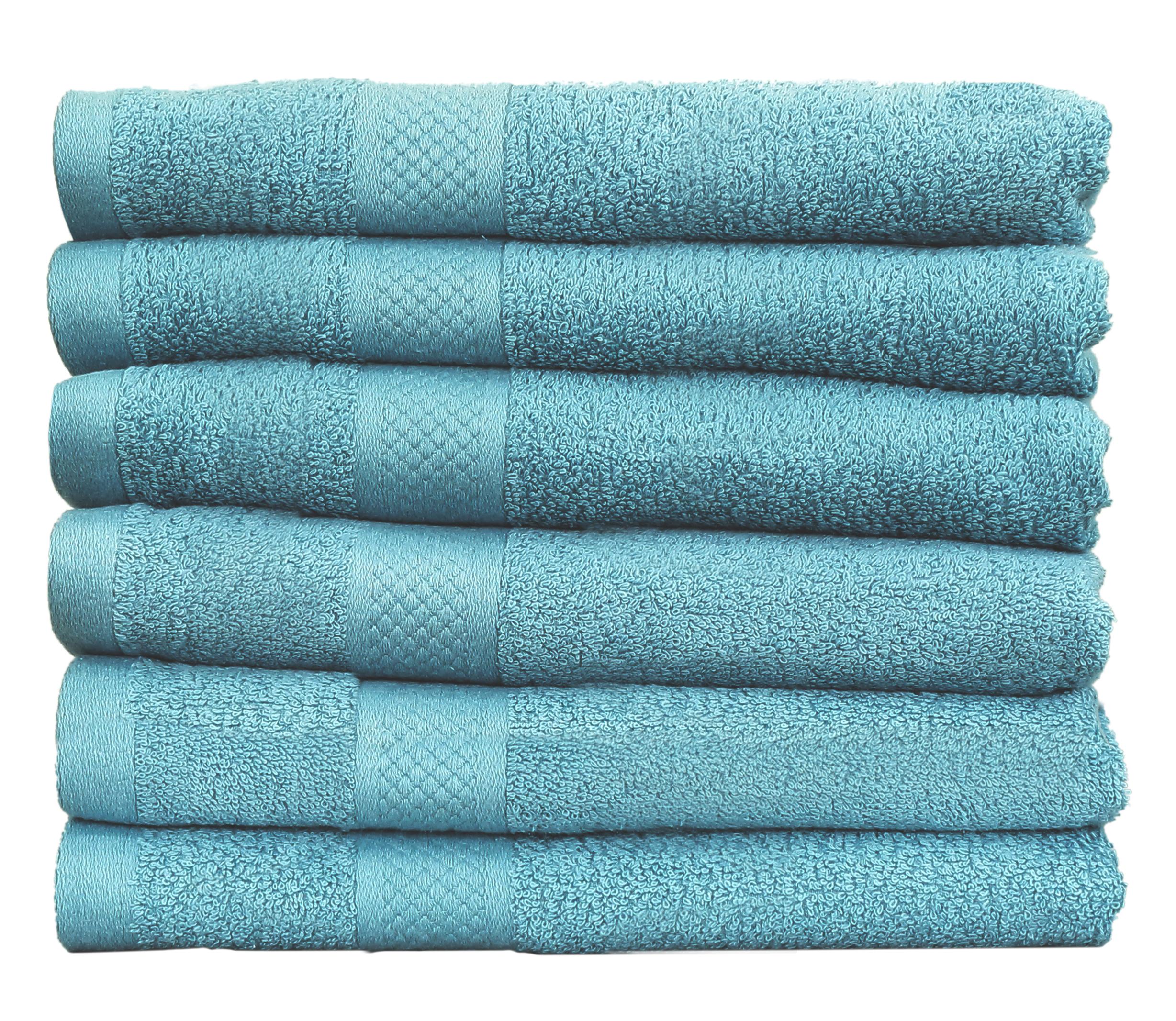 Seashell Handdoek 50 x 100 cm 500 gram Cool Blue - 6 stuks