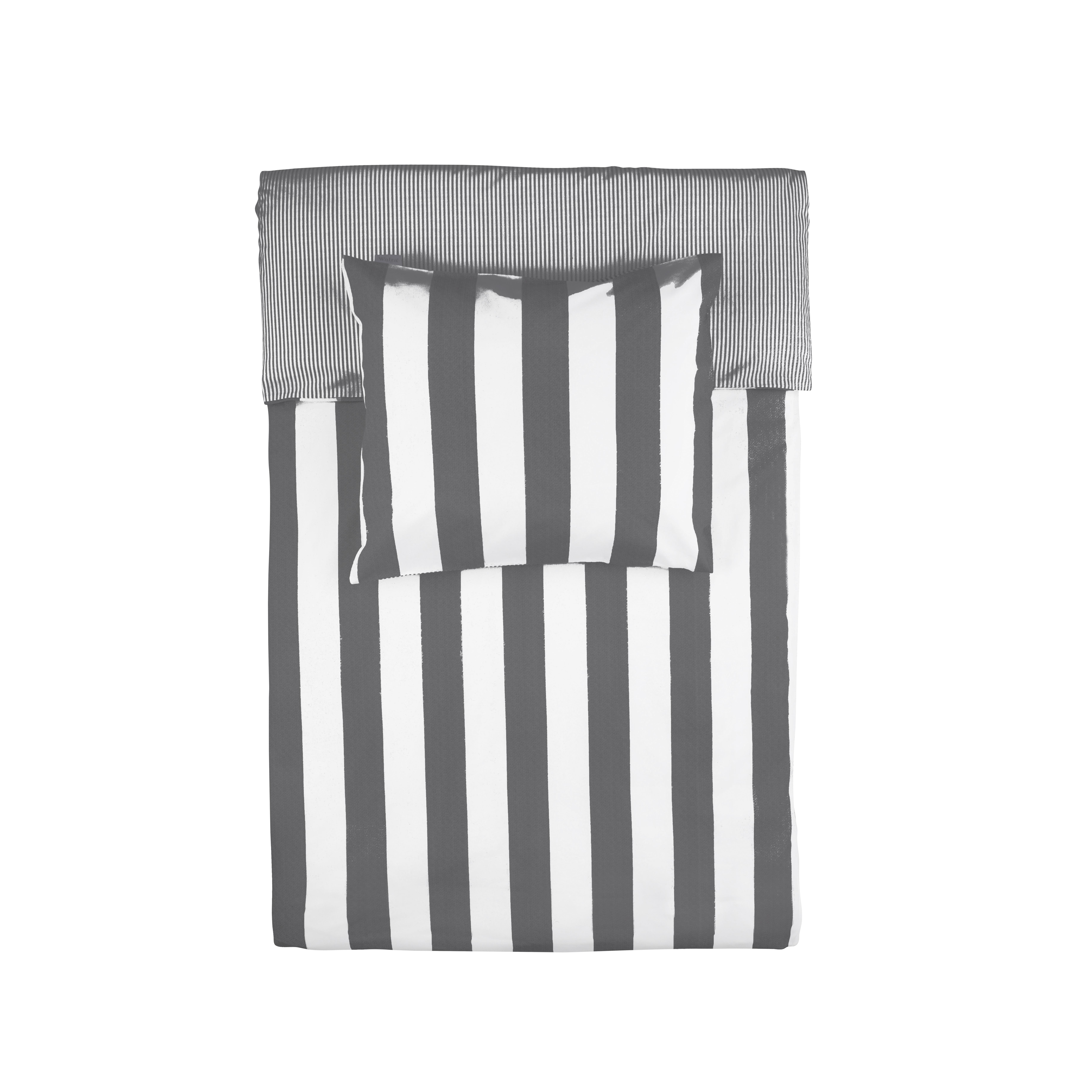 WALRA Dekbed Overtrek Everline DE Antraciet, 155x220 + 80x80