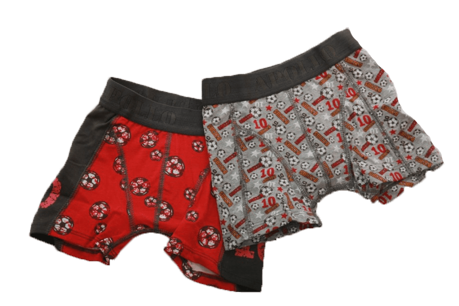 2-pack Apollo boys voetbal rood