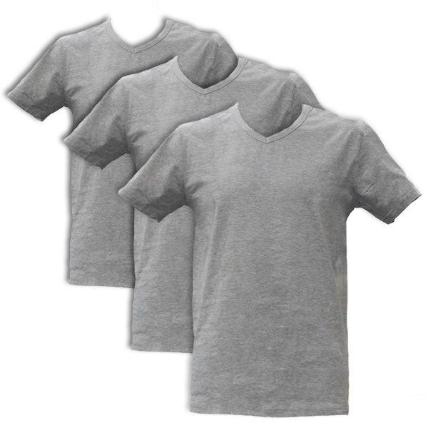Apollo Heren T-shirts V-Neck 3-pack Light Grey
